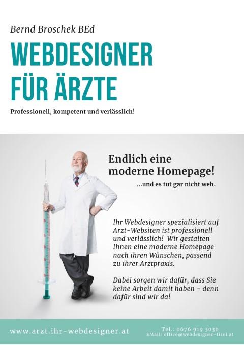 Flyer Webdesigner für Ärzte